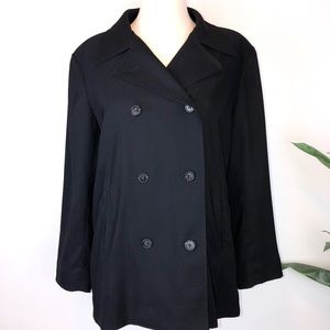 L.L. Bean Black Double Breasted Jacket